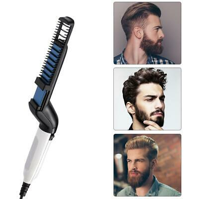 Men Electric Beard Curling Straightener Brush Hair Comb Straightening Quick Iron
