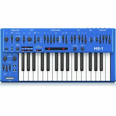 Behringer MS-1 Analog Synthesizer (Blue)