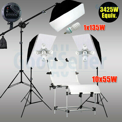 3425W Studio Continuous Softbox Lighting Boom Stand Photo Display Shooting Table
