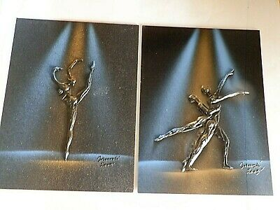 Vintage Abstract Expressionism BALLERINA  ACTION ART  BALLET RELIEF PAINTING