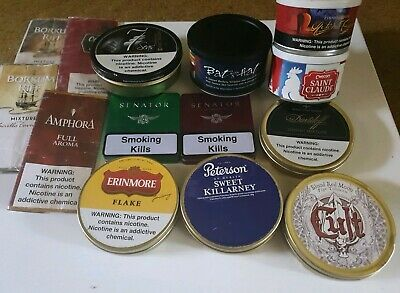 Assorted Pipe Tobacco TINS & Pouches lot