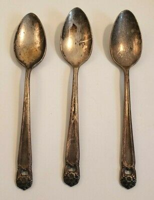 Lot of 3 Vintage Eternally Yours Wm Rogers 1847 Silver Plated Dessert Spoons