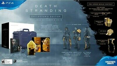 NEW SOLD OUT Death Stranding Collector's Edition PS4 Kojima with pre-order bonus