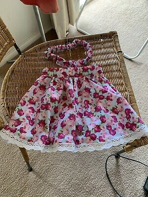Handmade Toddler / Baby vintage floral skirt and matching head band, Brand new