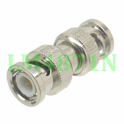 1pce Adapter BNC plug male to BNC male RF connector straight M/M
