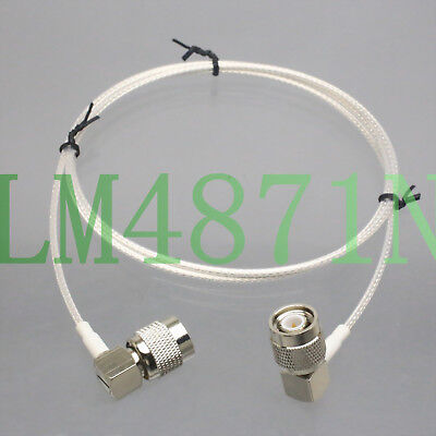 """TNC male """"L"""" to R/A RG316 2FT for UHF Antenna Wireless Microphone Front Rack Kit"""