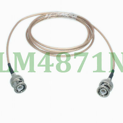 RF cable BNC plug to male Double Shielded silver plated braid RG316D 3FT pigtail