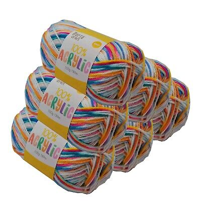 Super Soft Acrylic Knitting Yarn 100g 8 Ply 189m Circus