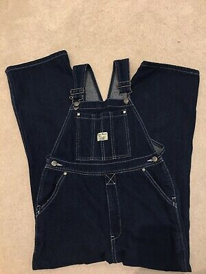 Vintage Dark Blue Denim Dungarees West End Blues Age 12 Overalls Casual