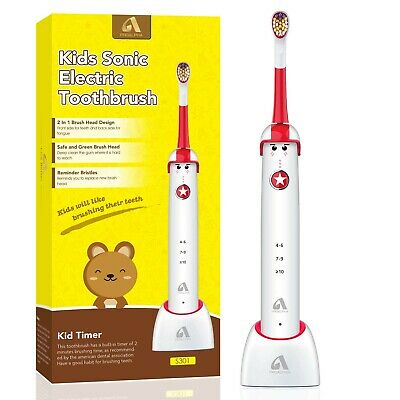 Sonic Electric Toothbrush for Kids and Teenagers, Cartoon Design, Proalpha Wire