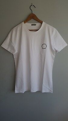 Calvin Klein Men's White Logo T Shirt Crew Neck Short Sleeve Cotton Tee Size L