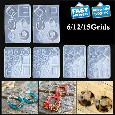 Silicone Resin Molds for Jewelry Earrings Pendant DIY Making Mould Craft Tools