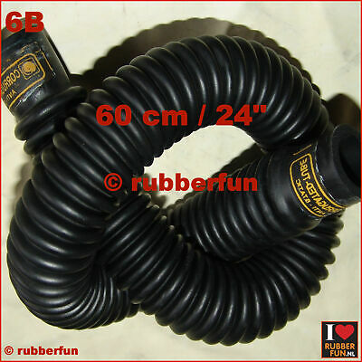 Corrugated black rubber hose - medical anesthesia - 60 cm / 24 inch - B