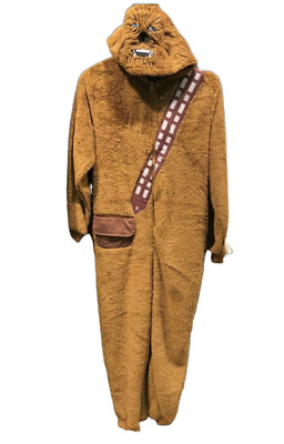 Primark Mens Star Wars Chewbecca Hodded All In One Pyjamas Nightwear Christmas