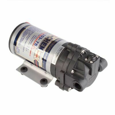 """Reverse Osmosis RO Booster Pump 75GPD with Power Supply and 1/4"""" Fittings"""