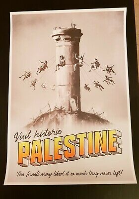 Banksy, Poster Palestine with COA