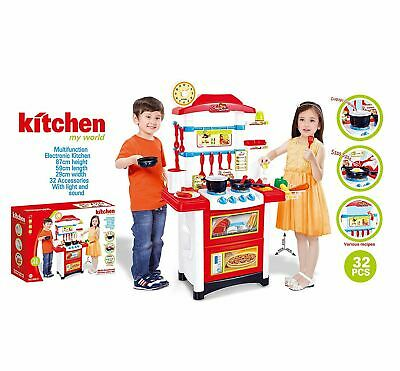 Giant Children Kid's Electronic Lights & Sounds Pretend Play Kitchen Cooking Set