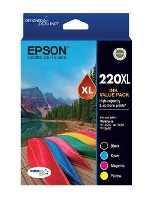 Epson Genuine 220XL Value Pack High Yield Ink For WF2630/WF2650/XP220/XP320