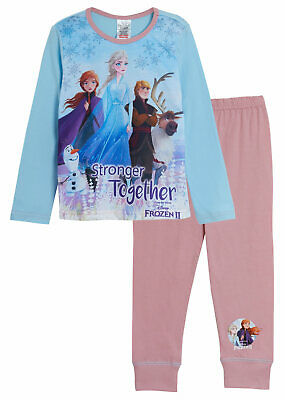 Disney Frozen 2 Pyjamas Frozen 2 PJs Elsa Anna Olaf Girls  4 -12 years (CH202)