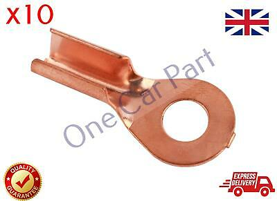 10X 10-16 mm2 8-6 AWG Open Cable Non insulated Ring Battery Copper Lugs Terminal