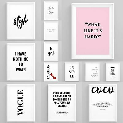 Fashion Wall Art Girl Boss Prints Framed Beauty Posters Female Bedroom Décor