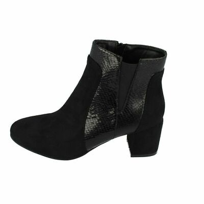 Ladies F5477 Pull On Black Knee High Boots with Faux Fur Inner by Spot On  £9.99