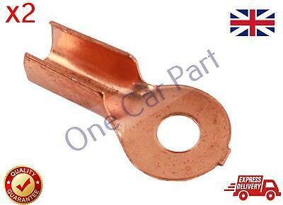 2X 10-25 mm2 8-4 AWG Open Cable Non insulated Ring Battery Copper Lugs Terminal