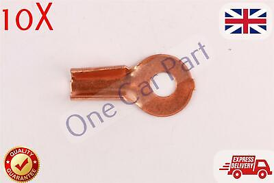 10X 10-25 mm2 8-4 AWG Open Cable Non insulated Ring Battery Copper Lugs Terminal