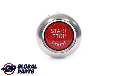 *BMW 3 Series E92 E93 Start Stop Ignition Switch Button Chrome Pearl Red 6973276
