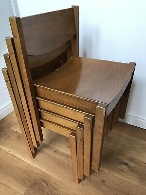 Rare Mid century Vintage Stacking Bent Wood Plywood ChairsNear Offers Invited