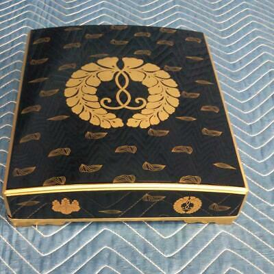Japanese Wooden Lacquer Box Paulownia Wisteria Rare Japan