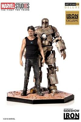 IRON MAN MARK I & TONY STARK DELUXE Statua Art Scale 1/10 by IRON STUDIOS
