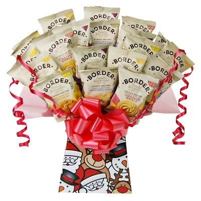 Borders Biscuit Christmas Treats Chocolate Bouquet  Gift Hamper Selection Box