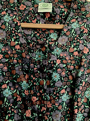 Vintage Laura Ashley Floral Wool Dress Size 14 *