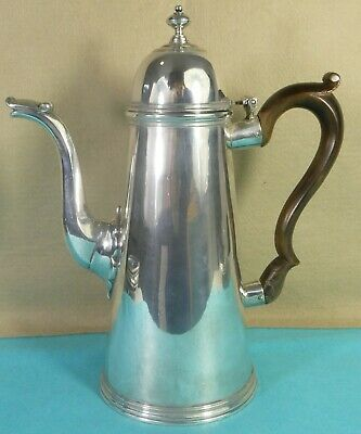 Superb Tall Georgian Sterling Silver Coffee Pot George I Urn Finial Blakely 1725