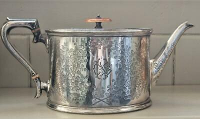 Stunning Aesthetic Period Frederick Wilson Silver Plated Teapot C 1883+