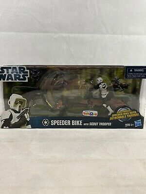 Hasbro Star Wars Speeder Biker With Scout Trooper Toys R Us Exclusive 2012...