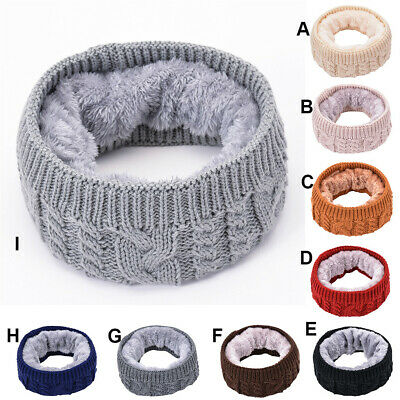 Kids Baby Girls Boys Children Warm Cotton Knitted Scarf Winter Neckerchie NEW UK