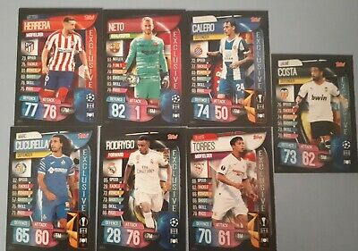 Topps Match Attax Champions League 19 20 Spanish Exclusive - Closed Set 7 Cards