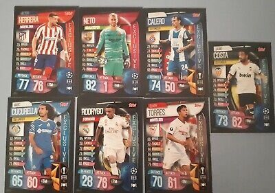 Topps Match Attax Champions League 19 20 Spanish Exclusive Set. 7 Cards