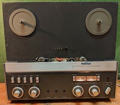 """Revox A77 MK IV 1/4"""" Tape Machine, Mid-80s, 7.5 & 15 ips, w / Cover & Cable"""