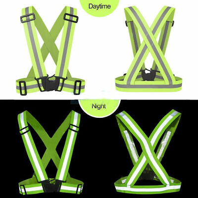 High Visibility Vest Cycling Running Safety Green Florescent
