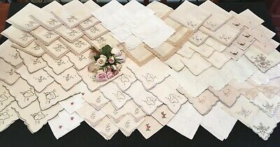 Vintage Napkins & Serviettes Bulk Collection of Over 80 Set 2