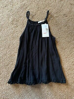 BNWT Girls Black Party Top Marks And Spencer Age 9-10