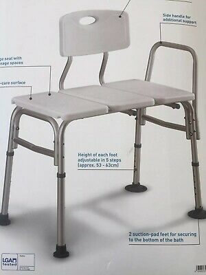 Transfer Disability Aid Support Bathroom Bath Shower Bench Chair Seat Stool UK