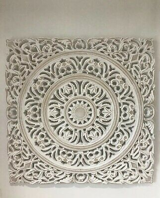 Large Morrocan Style Carved Wood Panel Wall Art Picture Beautiful Home Decor