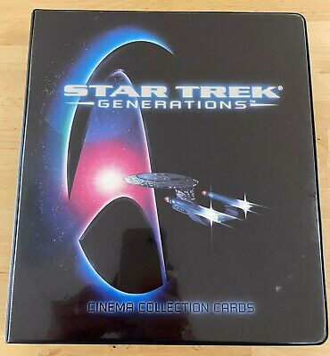 Star Trek The Next Generation Movie Generations Trading Cards Skymotion Binder