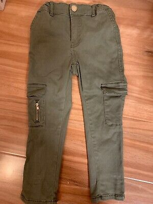 Cotton On Girls Cargo Pants Size 3, Stretch,Adjustable Waist,Exc Used Condition