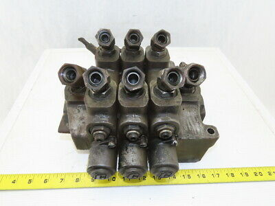 Commercial Intertech Hydraulic Directional Control 3 Section Spool Valve