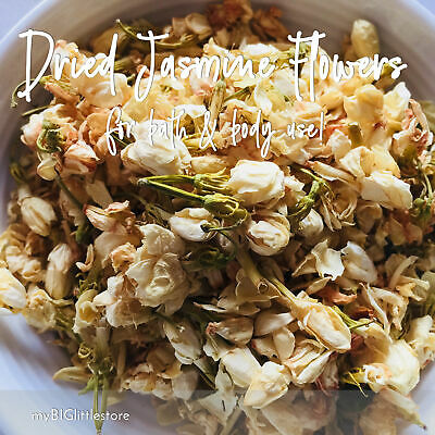 Dried Jasmine Flowers for Soap Candles Bath Salts & Craft 50-200g- SYDNEY Post